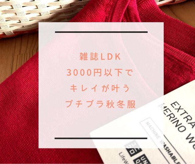 """【雑誌LDK】3000円以下で""""キレイが叶う""""プチプラ秋冬服はこれ!"""